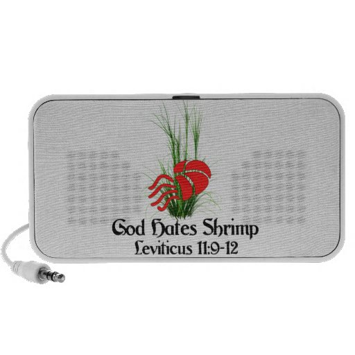 Dios odia el camarón portátil altavoces