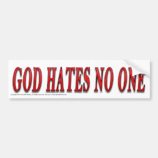 Dios odia nadie pegatina de parachoque