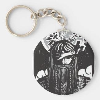 Dios Odin de los nórdises con los cuervos espirale Llaveros Personalizados