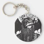 Dios Odin de los nórdises con los cuervos Llavero Redondo Tipo Pin