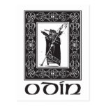 Dios Odin de los nórdises Postal