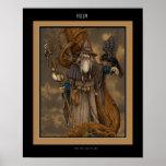 Dios Odin de los nórdises Póster