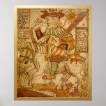 Dios Odin en su caballo Ocho-legged Sleipnir - 2 Posters
