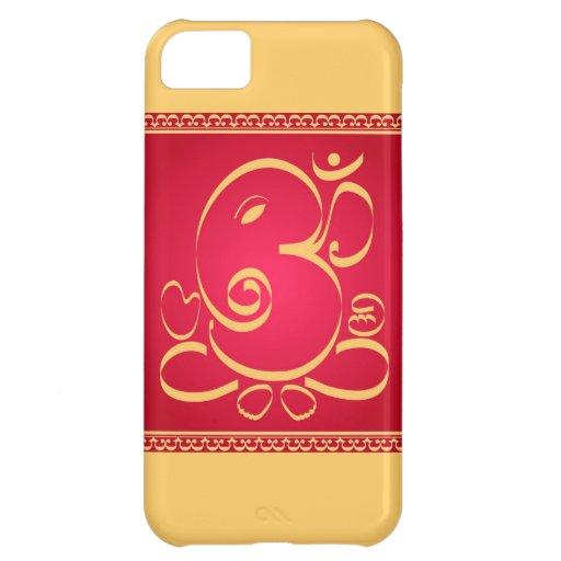 Dios OM Ganesha en rojo Funda Para iPhone 5C