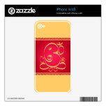 Dios OM Ganesha en rojo Skins Para eliPhone 4