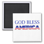 Dios patriótico bendice América Imán De Frigorifico