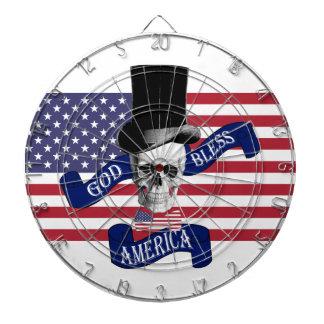 Dios patriótico bendice el dartboard del estilo de tablero de dardos