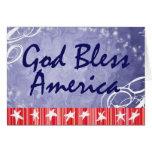 Dios patriótico de las tarjetas de felicitación be