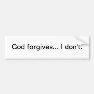 Dios perdona… No hago - pegatina para el parachoqu Pegatina Para Auto