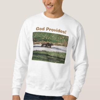 ¡Dios proporciona! , Ardilla con la nuez Sudaderas Encapuchadas