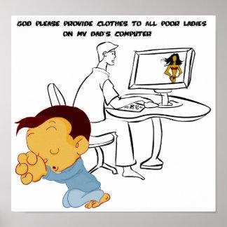 ¡Dios proporciona por favor la ropa a todas las se Póster