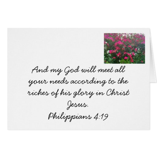 Dios proporcionará tarjeta pequeña