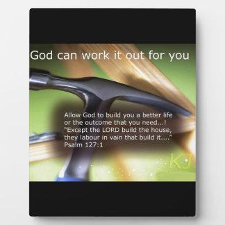 Dios puede elaborarlo para usted placas