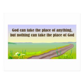 Dios puede tomar el lugar cualquier cosa postal