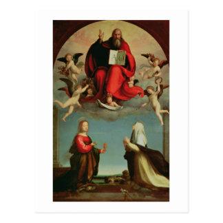 Dios que aparece a St Mary Magdalen y St. Catheri Tarjetas Postales