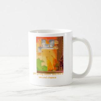 dios que da Adán y Eva una segunda oportunidad Taza De Café