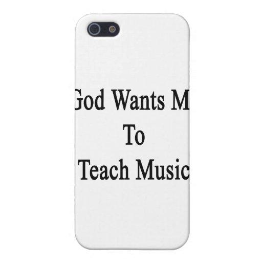 Dios quisiera que enseñara a música iPhone 5 protectores