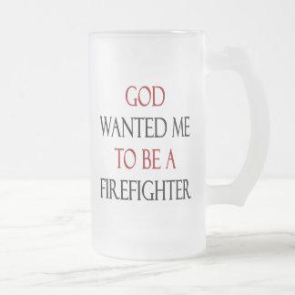 Dios quisiera que fuera bombero tazas de café