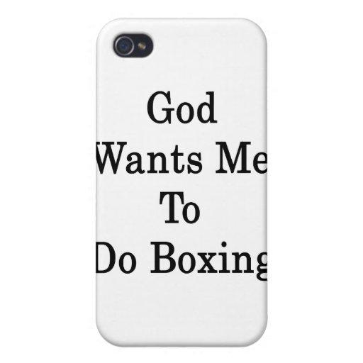 Dios quisiera que hiciera el boxeo iPhone 4 carcasas