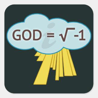 Dios = raíz cuadrada de -1 pegatinas pegatina cuadrada