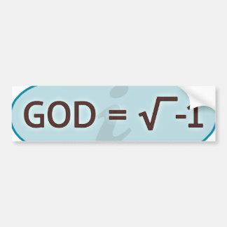 Dios = raíz cuadrada de la pegatina para el pegatina para auto