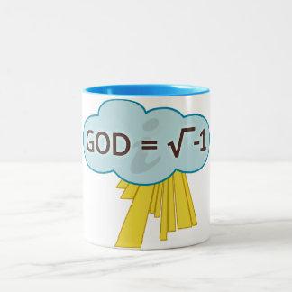 Dios = raíz cuadrada de la taza -1