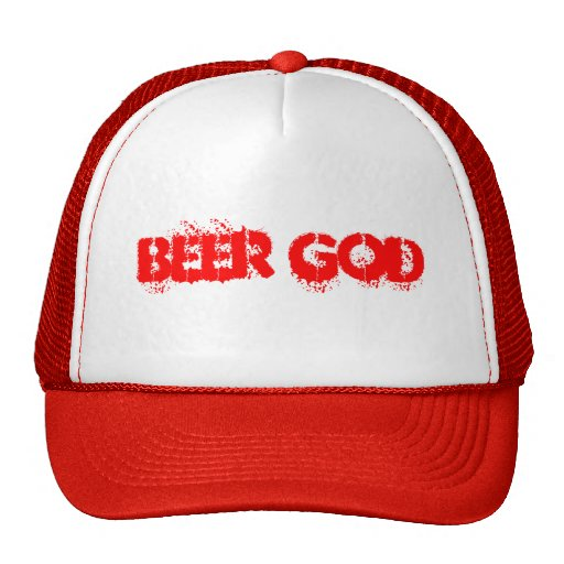 Dios Red Hat de la cerveza Gorra