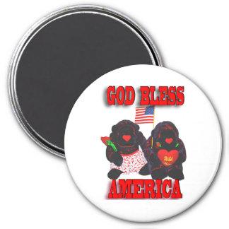 Dios relleno de los gorilas bendice el imán de Amé