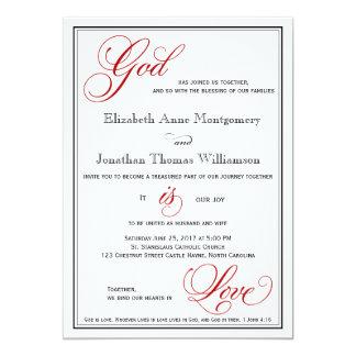 """Dios rojo es invitaciones cristianas del boda del invitación 5"""" x 7"""""""