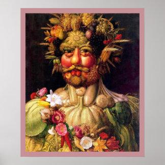 Dios romano de las estaciones de José Arcimbolodo Posters
