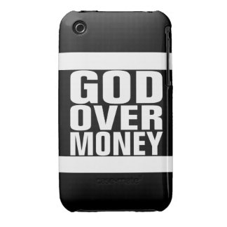 Dios sobre el dinero Case-Mate iPhone 3 coberturas