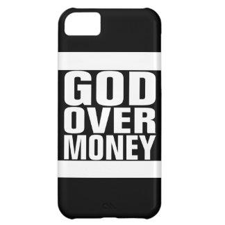 Dios sobre el dinero funda para iPhone 5C