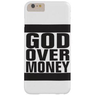 Dios sobre el dinero funda para iPhone 6 plus barely there