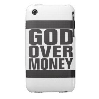 Dios sobre el dinero iPhone 3 protectores