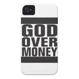 Dios sobre el dinero iPhone 4 Case-Mate carcasa