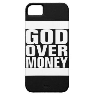 Dios sobre el dinero iPhone 5 carcasa