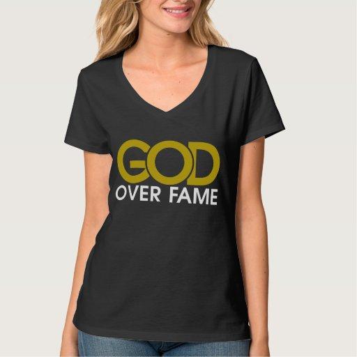 Dios sobre la ropa de la fama playera