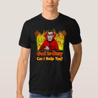 ¿Dios soy ocupado, puedo ayudarle? Camiseta Remeras