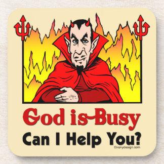 ¿Dios soy ocupado, puedo ayudarle? Posavasos