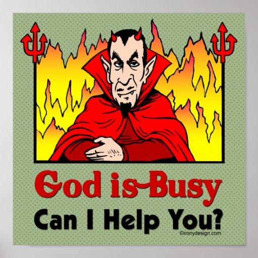 ¿Dios soy ocupado, puedo ayudarle? Poster