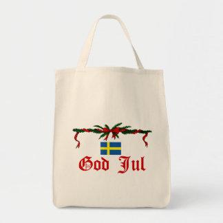 Dios sueco julio (Felices Navidad) Bolsa Tela Para La Compra
