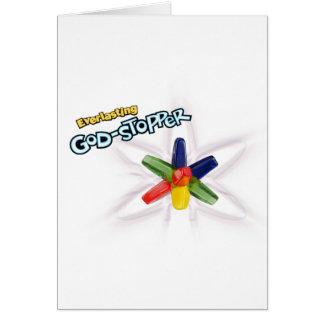 Dios-tapón eterno tarjeta de felicitación