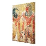 Dios Thoth con Seti I en la tumba de Seti Impresión En Lienzo