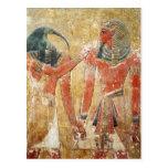 Dios Thoth con Seti I en la tumba de Seti Postal