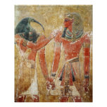 Dios Thoth con Seti I en la tumba de Seti Poster
