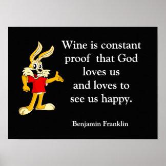 Dios tiene gusto de nosotros felices - impresión póster