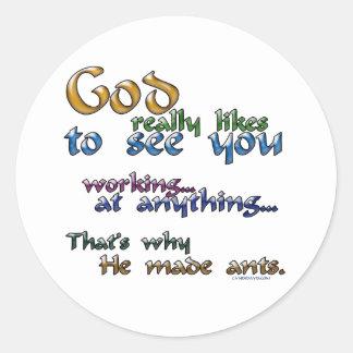 Dios tiene gusto realmente… pegatinas redondas
