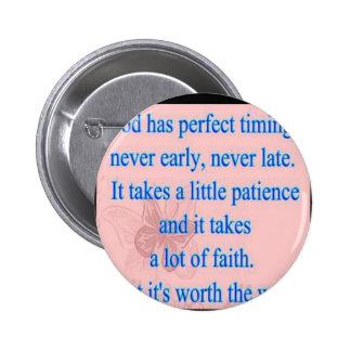 Dios tiene sincronización perfecta pin
