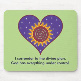 Dios tiene todo bajo pegatina para el parachoques mouse pad