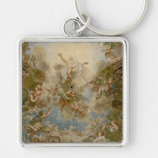 Dios todopoderoso el padre - palacio de Versalles Llavero Cuadrado Plateado